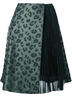 jacquard pleated panels skirt Taro Horiuchi