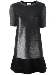 платье-футболка с панельным дизайном Moncler