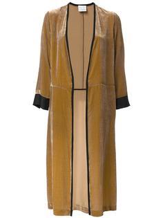 бархатное пальто без застежки Forte Forte