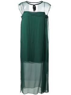шифоновое платье без рукавов Nº21