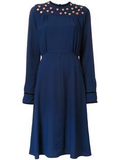 декорированное платье средней длины MSGM