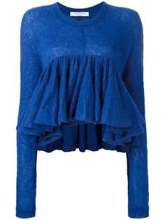 cropped pleated knitted top Philosophy Di Lorenzo Serafini