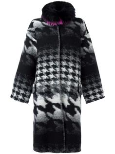 collar detail houndstooth coat Ava Adore