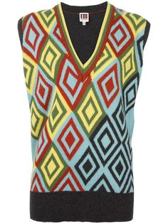 geometric intarsia knitted vest I'M Isola Marras