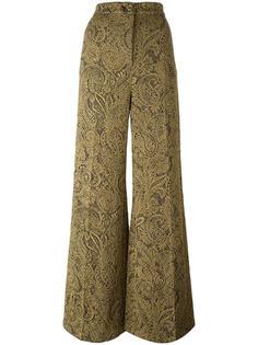 жаккардовые брюки с завышенной талией Erika Cavallini