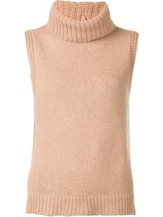 roll neck sleeveless knitted top Leo & Sage