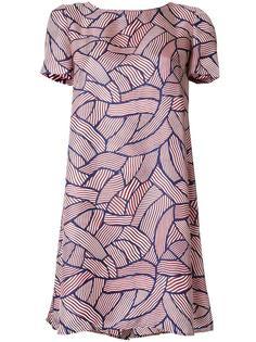 полосато платье с короткими рукавами Diane Von Furstenberg