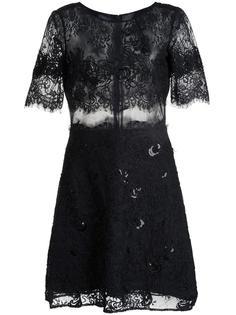 кружевное платье мини Marchesa Notte