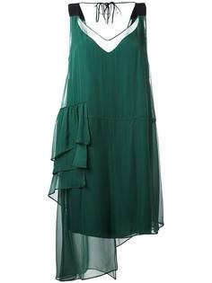 асимметричное шифоновое платье Nº21