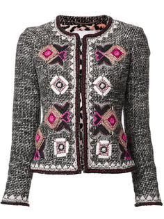 твидовый пиджак с обшитым узором Bazar Deluxe