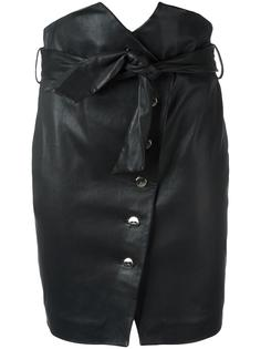 buttoned leather skirt  Iro
