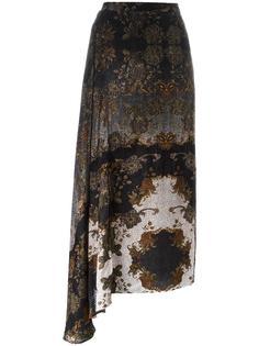 асимметричная юбка с узором пейсли Antonio Marras