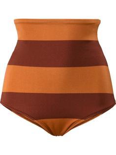 'Sedona' stripe high-waisted bikini bottoms Malia Mills