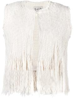 fringed knit vest Sea