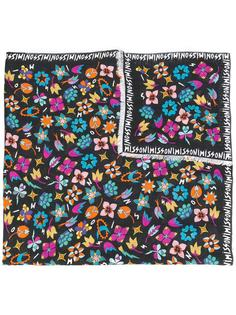 шарф с принтом 'Logo & Flowers' Missoni