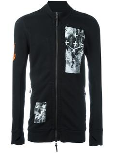 crosses prints zipped sweatshirt Boris Bidjan Saberi