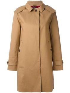 double breasted zipped coat Sealup