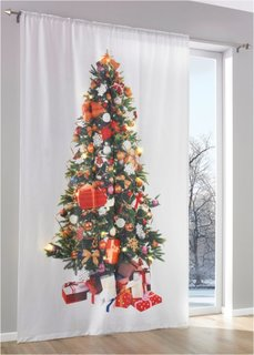 Штора со светодиодным освещением Новогодняя елка (1 шт.), кулиска (белый/разные цвета) Bonprix