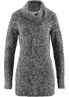 Пуловер (темно-синий/светло-серый мелан) Bonprix