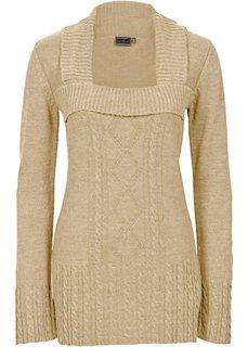 Вязаный пуловер (темно-коричневый) Bonprix