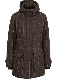Куртка со съемным капюшоном (коричневый в клетку) Bonprix
