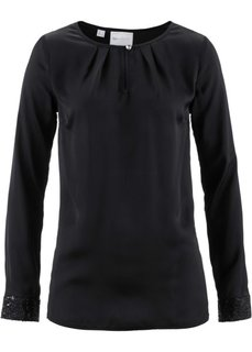 Блузка с пайетками (темно-лиловый) Bonprix