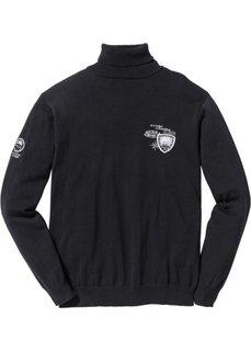Пуловер Regular Fit с высоким воротом (лазурный) Bonprix