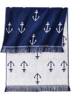 Полотенце для рук Якорь (синий) Bonprix