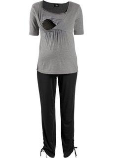 Мода для беременных: футболка + брюки (2 изд.) (черный) Bonprix
