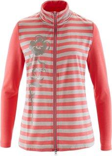 Трикотажная куртка (черный/серо-коричневый) Bonprix