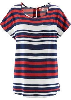 Длинная блузка (темно-синий/красный/белый в по) Bonprix