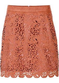 Мини-юбка из искусственной замши (темно-синий) Bonprix