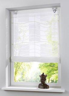 Римская штора Бристоль, крючки-люверсы (белый/зеленый) Bonprix