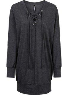Обязательный элемент гардероба: вязаная футболка (светло-серый меланж) Bonprix