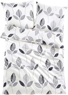 Постельное белье Айлин, линон (серый/кремовый/белый) Bonprix