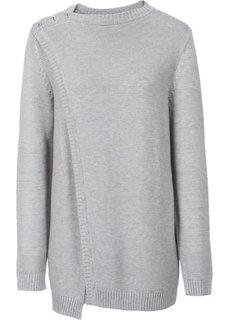 Двухслойный пуловер (черный) Bonprix