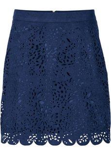 Мини-юбка из искусственной замши (корица) Bonprix