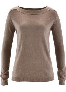 Пуловер с примесью шелка (розовый) Bonprix