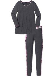 Пижама с легинсами (черный с рисунком) Bonprix