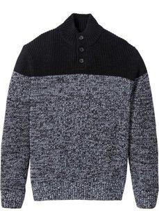 Пуловер Regular Fit (серо-синий/белый) Bonprix