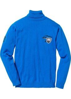 Пуловер Regular Fit с высоким воротом (черный) Bonprix