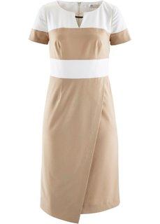 Корректирующее платье-футляр (черный/кремовый) Bonprix