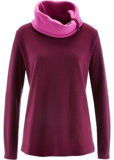 Флисовый свитер с длинным рукавом (темно-бирюзовый) Bonprix