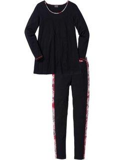 Пижама с легинсами (серый с рисунком) Bonprix