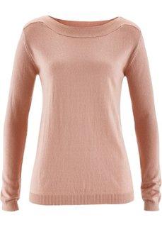Пуловер с примесью шелка (светло-серый меланж) Bonprix