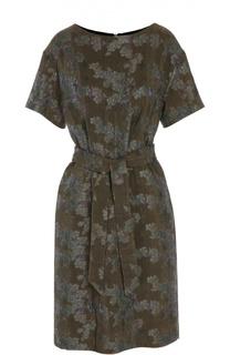 Коктейльное платье с поясом Dries Van Noten