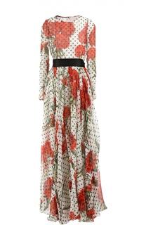 Вечернее платье с поясом Dolce & Gabbana