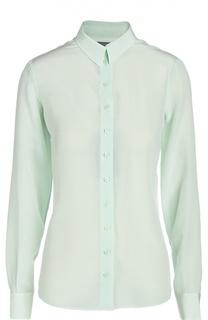 Приталенная шелковая блуза с длинным рукавом Alexander McQueen
