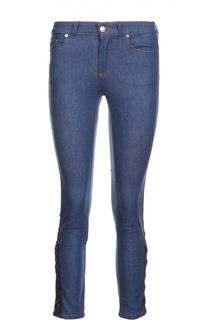 Укороченные джинсы скинни со шнуровкой Alexander McQueen