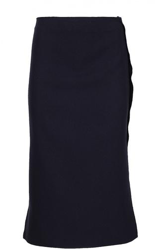 Прямая юбка с контрастной отделкой Acne Studios